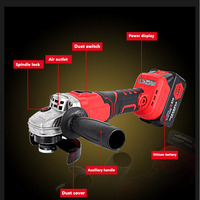 Cordless Angle Grinder 100mm with 2 battery Multi function Material Removal Electric Angle Grinder Grinding Machine Cut Off Tool