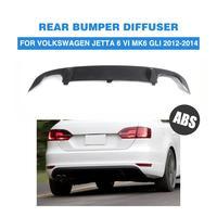 Auto Rear Bumper Lip Diffuser For Volkswagen VW Jetta GLI 2012 2014 ABS Matt Black Car Tuning Parts