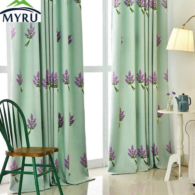 US $11.45 5% OFF|MYRU Heißer Verkauf Koreanische Neue Frische Lavendel  Handtuch Bestickt Schatten Vorhang Schlafzimmer wohnzimmer Vorhang in MYRU  ...