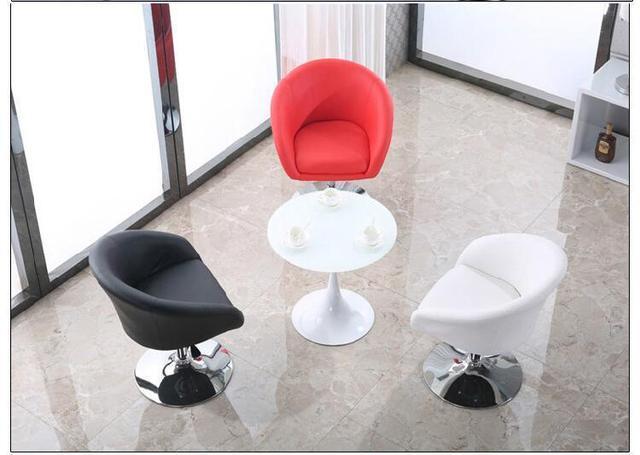 Société usine chaise de bureau exposition publicité tabouret rouge