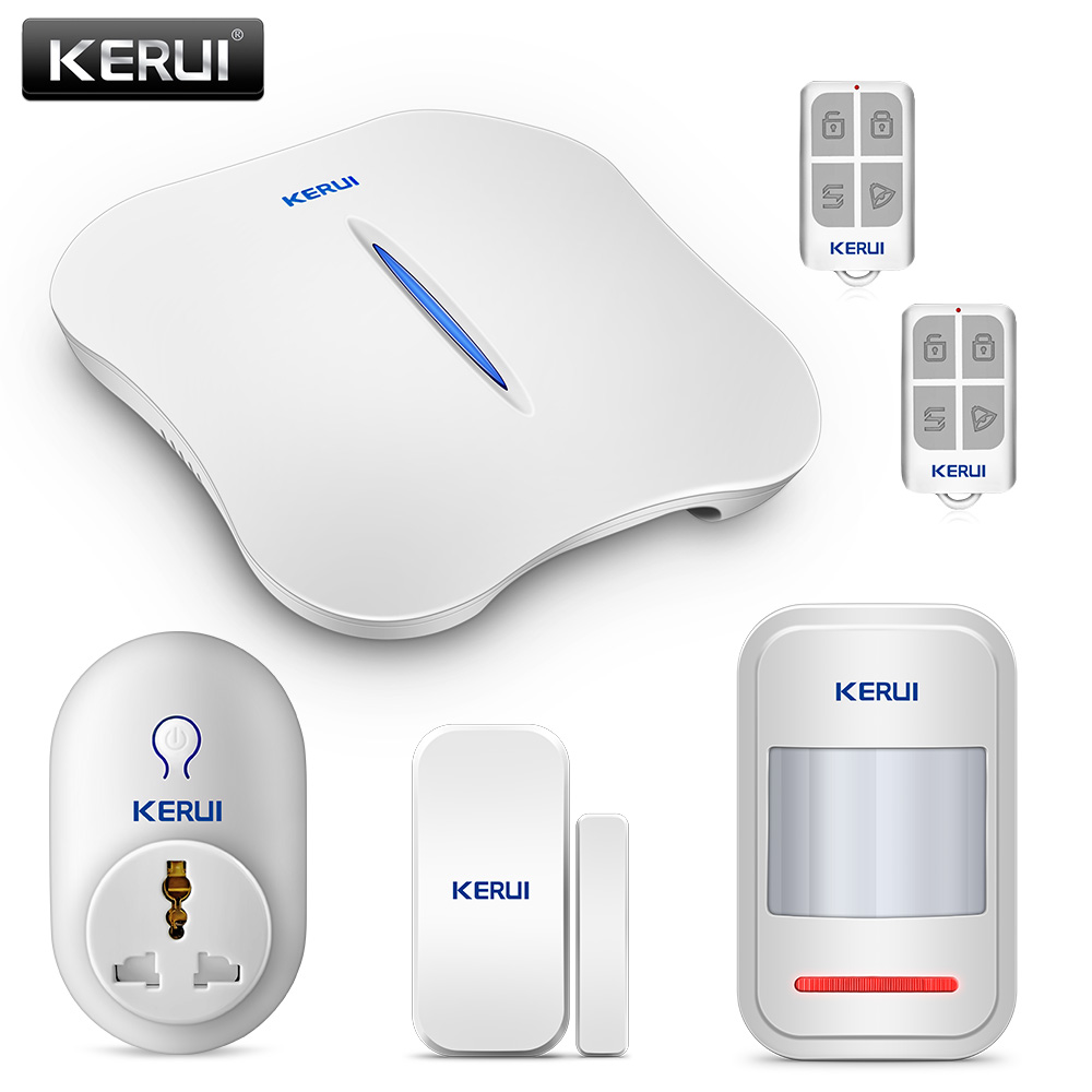 KERUI W1 WiFi PSTN Smart Home Security Burglar Alarm System APP Remote Control With Smart Socket Russia Warehouse Clearance