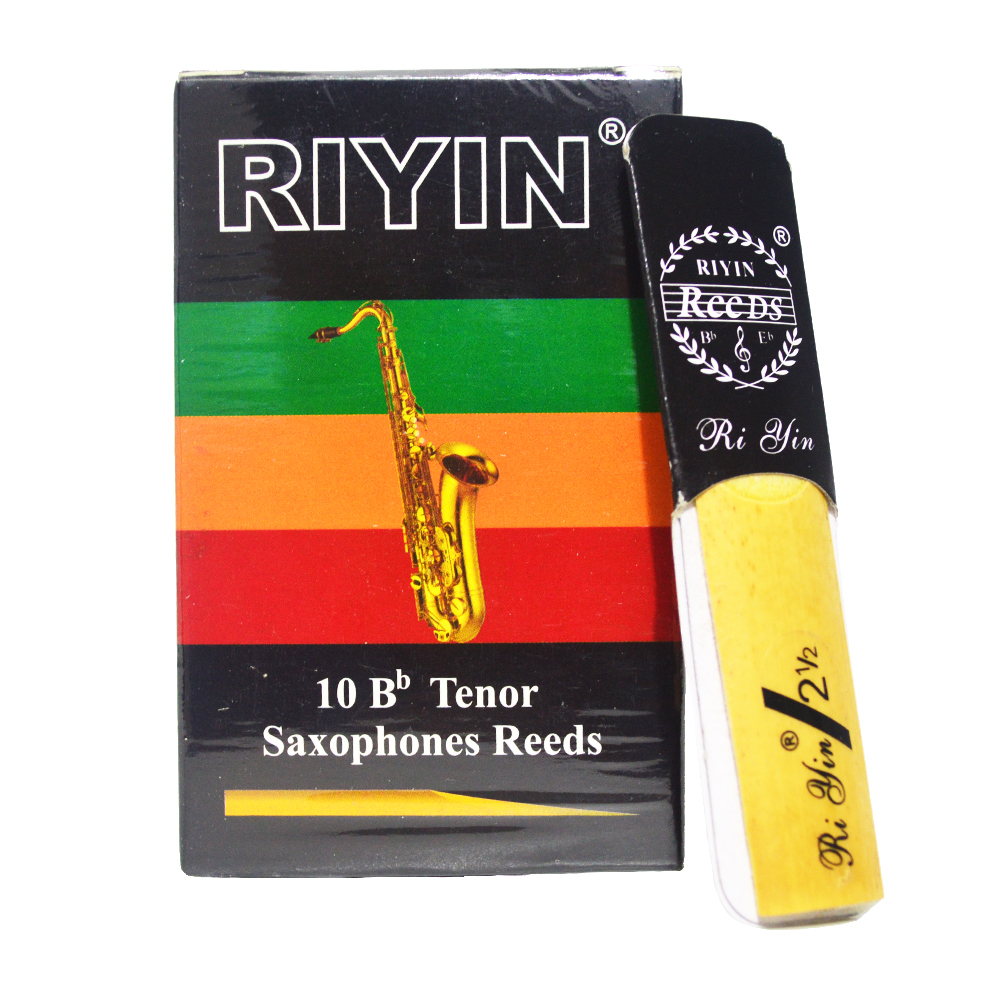 Saxophone Reeds Soprano BB Alto BE Tenor BB For Choose Sax Reed Size 2.5 Box Of 10 Strength 2 1/2