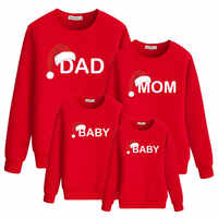 dad mom baby christmas clothing for family hoody matching outfits clothes mother daughter father son look mommy and me dress set