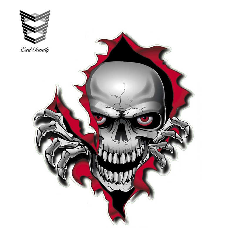Small Pair Ripped Open Metal Rip GASH Evil Demon Eyes Horror Car Sticker decal