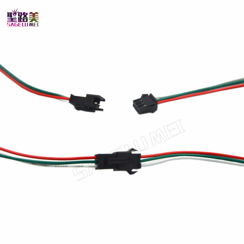 2pin 3pin 4pin 5pin led wire connector Male/female JST SM Plug ...