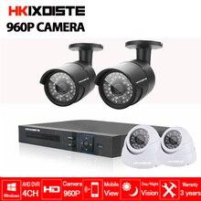 4CH AHD DVR 4pcs 1.3MP 960P Camera Security Surveillance CCTV System Indoor Outdoor IR Night Vision camera Kit 1080P HDMI output