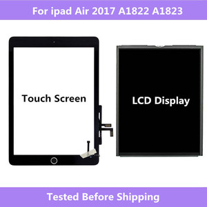 Image 1 - A1822 A1823 For ipad Air 2017 Touch Screen Digitizer panel Home Assembly / LCD Display Screen Repair For ipad 5 2017 A1822 A1823
