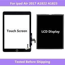 A1822 A1823 For ipad Air 2017 Touch Screen Digitizer panel Home Assembly / LCD Display Screen Repair For ipad 5 2017 A1822 A1823