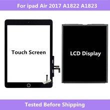 A1822 A1823 Per ipad Air 2017 di Tocco Digitale Dello Schermo Per La Casa pannello di Montaggio/Display LCD di Riparazione Dello Schermo Per ipad 5 2017 a1822 A1823
