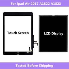 A1822 A1823 для ipad Air 2017 сенсорный экран дигитайзер панель домашняя сборка/ЖК дисплей экран Ремонт для ipad 5 2017 A1822 A1823