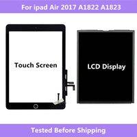 A1822 a1823 para ipad ar 2017 tela de toque digitador do painel montagem em casa/display lcd reparo da tela para ipad 5 2017 a1822 a1823|Painéis e LCDs p/ tablet| |  -