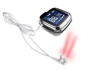 Image 2 - 20 diody laserowe urządzenie do łagodzenia bólu aparat do pomiaru ciśnienia krwi zimny laser urządzenie do terapii dla szumu w uszach utrata słuchu ucho do ucha