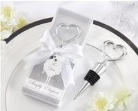 12pcs Lot Elegant Wedding Party Favor Gift Heart Shaped Wine Bottle Stopper With Box Bridal Christmas