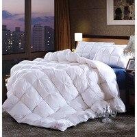 1 stücke Top Qualität 95% Weiße Gänsedaunen Winter Quilt/Tröster/Bettbezug 100% Baumwolle Abdeckung Twin Voll Königin könig Größe