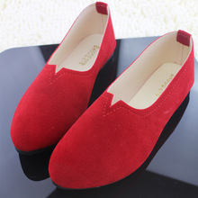 Shoes Woman Flats Suede Loafers Slip-on Shallow Casual Shoes Women  Large Size 2018 Spring  Fashion Comfortable and Breathable piergitar fabric printed traditional hand drawn design women loafers women casual and party shoes fashion slip on woman flats