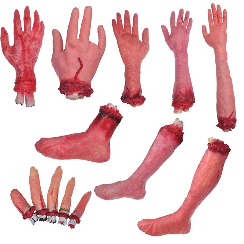 13Piece / set Halloween Horror rekviziti strašljivo odrezani krvavi - Prazniki in zabave - Fotografija 2