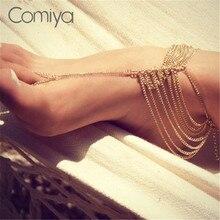 Comiya индийский стиль модный многослойные цепи ювелирные изделия браслеты сплава цинка новый лодыжки браслеты для женщин заявление аксессуары