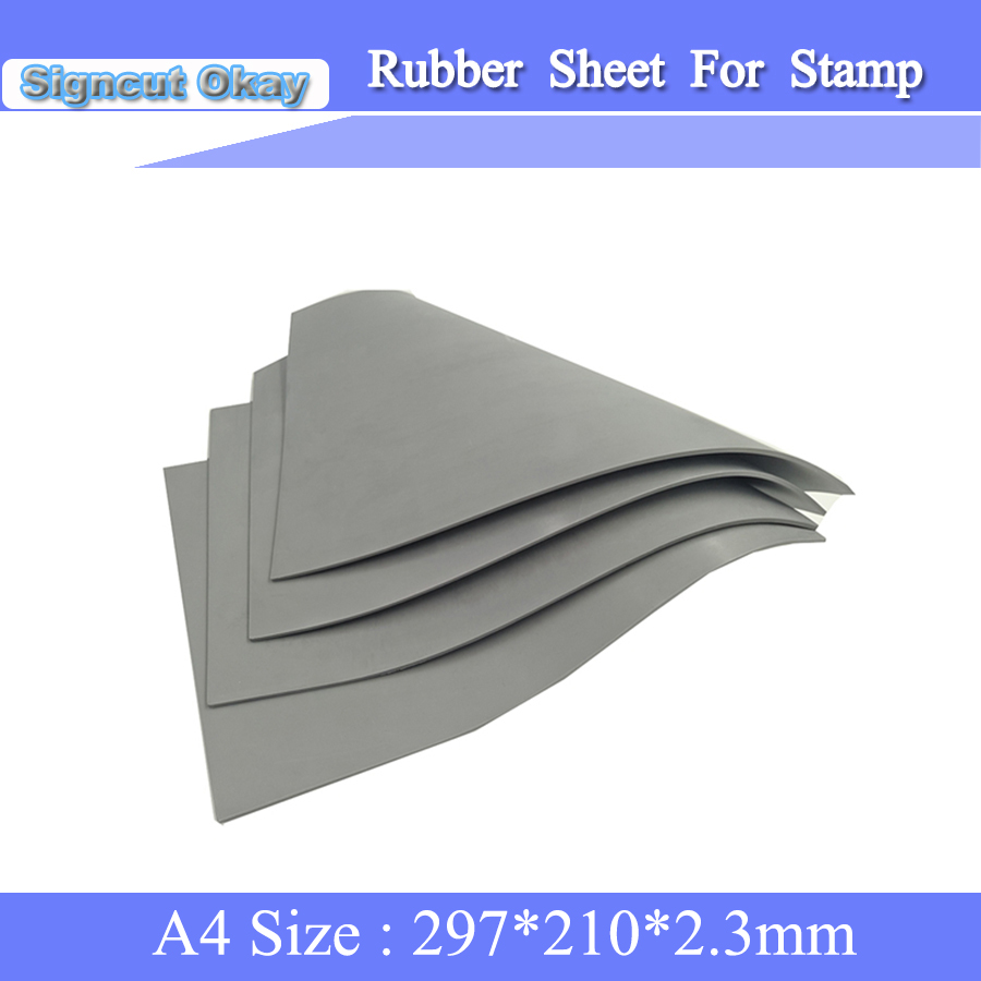 Free Shipping Rubber Sheet  A4 Size 297*210*2.3 Mm Laser Engraver Rubber Stamp Laser Rubber Sheet