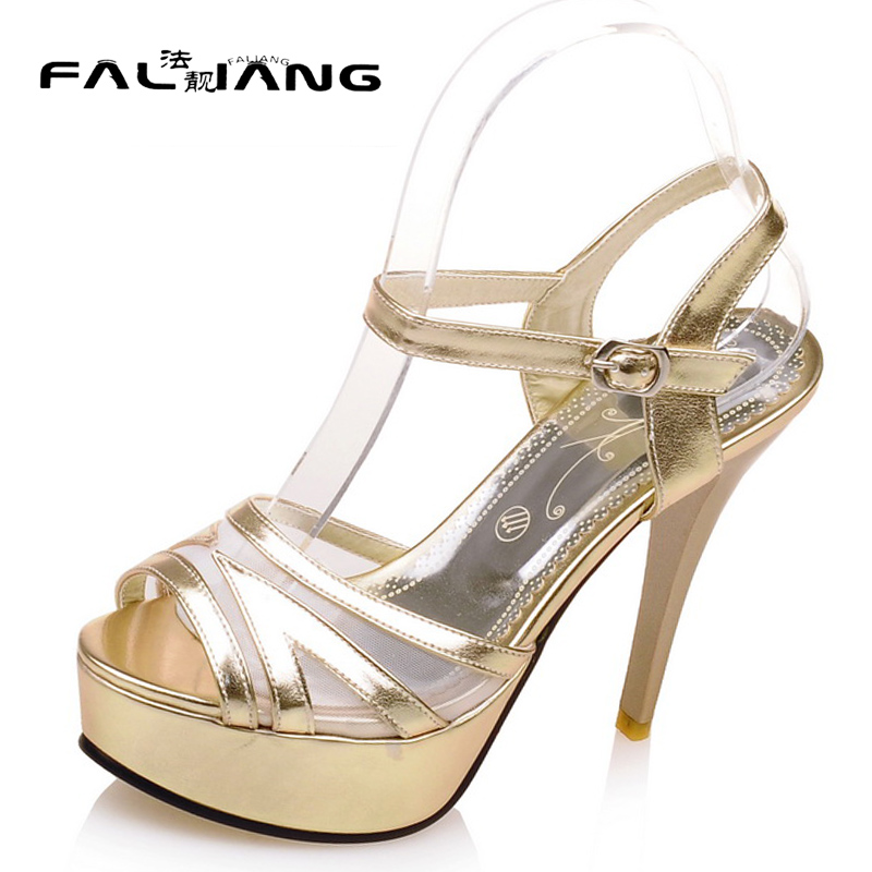 New arrival Summer plus size 11 12 Mature Dress womens sexy Peep Toe Ankle-Wrap shoes Thin Heels Summer Super high heel sandals 2016 summer diamond purple peep toe high heels sandals for sale size 11 hollow female korean style sexy thick womens slippers