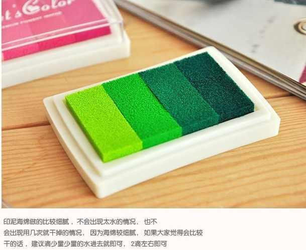 Inkpad 2019 детское ремесло масло градиент цвета на основе Diy прокладка резиновая штампы бумага Скрапбукинг 15 цветная Штемпельная краска для рисования пальцем