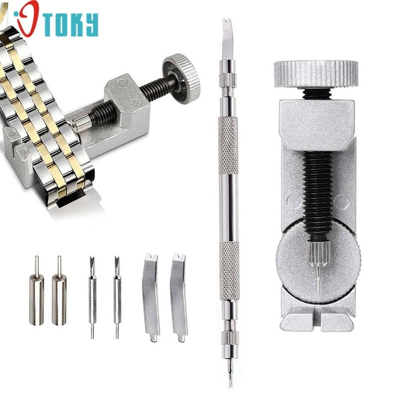 New Arrive Metal Watch Band & Bracelet Link Remover + Spring Bar Repair Tool W/ Extra Pins Watch Repair Tools