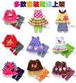 new 2015 spring summer children clothing set baby girls cute T-shirt + pants 2pcs sets Striped dot cartoon flowers girls clothes