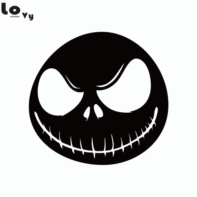 Nightmare Before Christmas Jack Vinyl Wall Sticker Funnny Halloween Wall Decal for Bedroom Living Room Home Decor