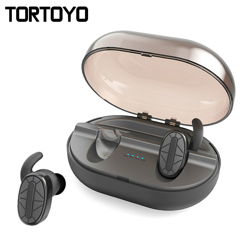 TORTOYO T101 TWS Mini Bluetooth Earphone with Charging Box Noise Reduction Wireless Twins Earbuds for iPhone Xiaomi Smart Phone
