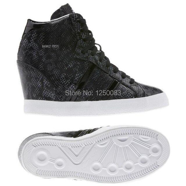 new womens wedge sneaker basket profi up snakeskin grain black hot sale  hidden heels discount womens