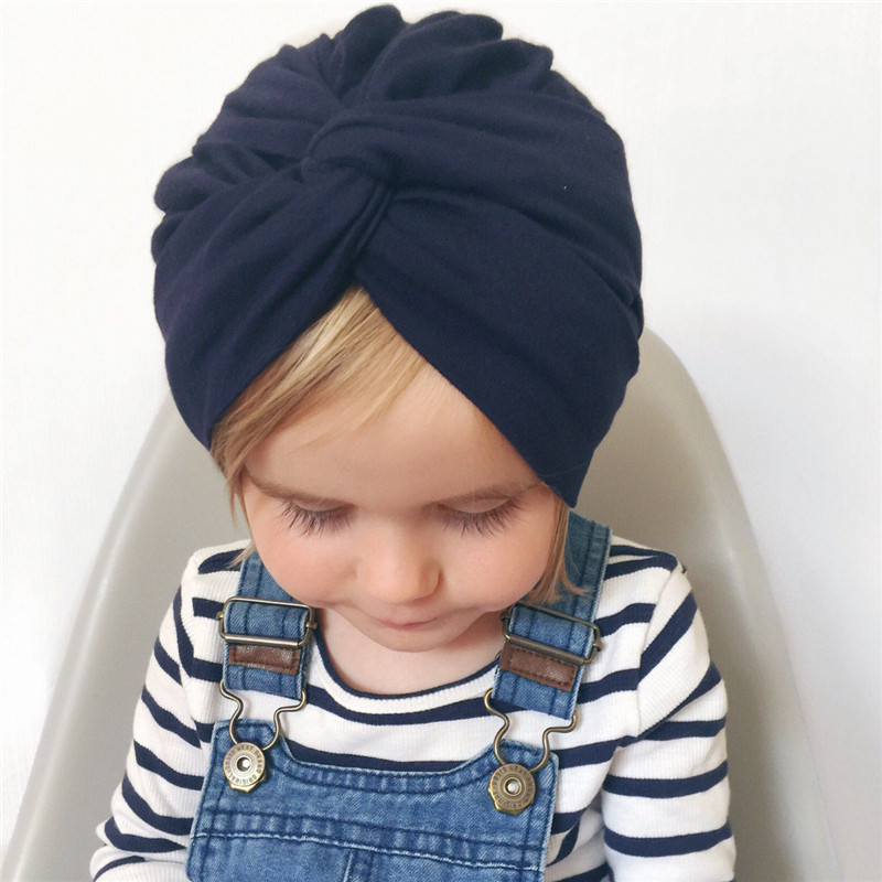 Cute Indian Hat Cotton Bandanas Baby Girls Kids Turban Headband Hair Band Wrap For Children Headdress Elastic Infant Accessories