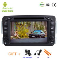 Car DVD player For Mercedes Benz W209 W203 M ML W163 Vito Vaneo GPS stereo audio navigation,Android 9.1,2 DIN