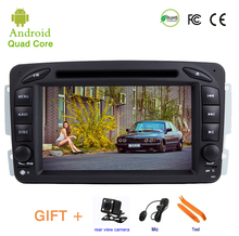 Dvd-плеер автомобиля для Mercedes Benz W209 W203 ML W163 Vito Vaneo gps стерео аудио навигация, Android 9,1, 2 DIN