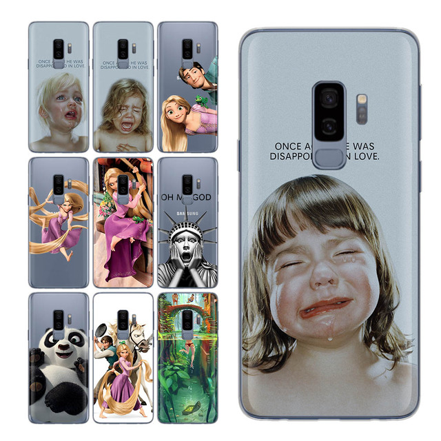 the best attitude 1d6fb 606f3 US $1.72 30% OFF|Fundas For Samsung Galaxy S9 case Cute Princes for S9  Cases The Crying girls case for Samsung Galaxy S7 S7 edge S8 Plus S8  Case-in ...