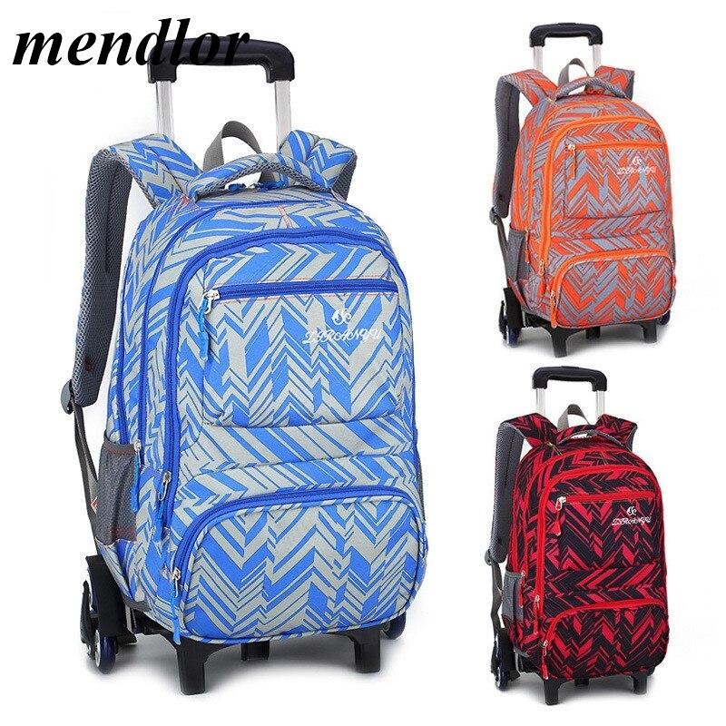 Mode Enfants Voyage sac à dos à roulettes 6 roues sacs d'école trolley de Fille Enfants de bagages de voyage sac à roulettes sac à dos pour l'école