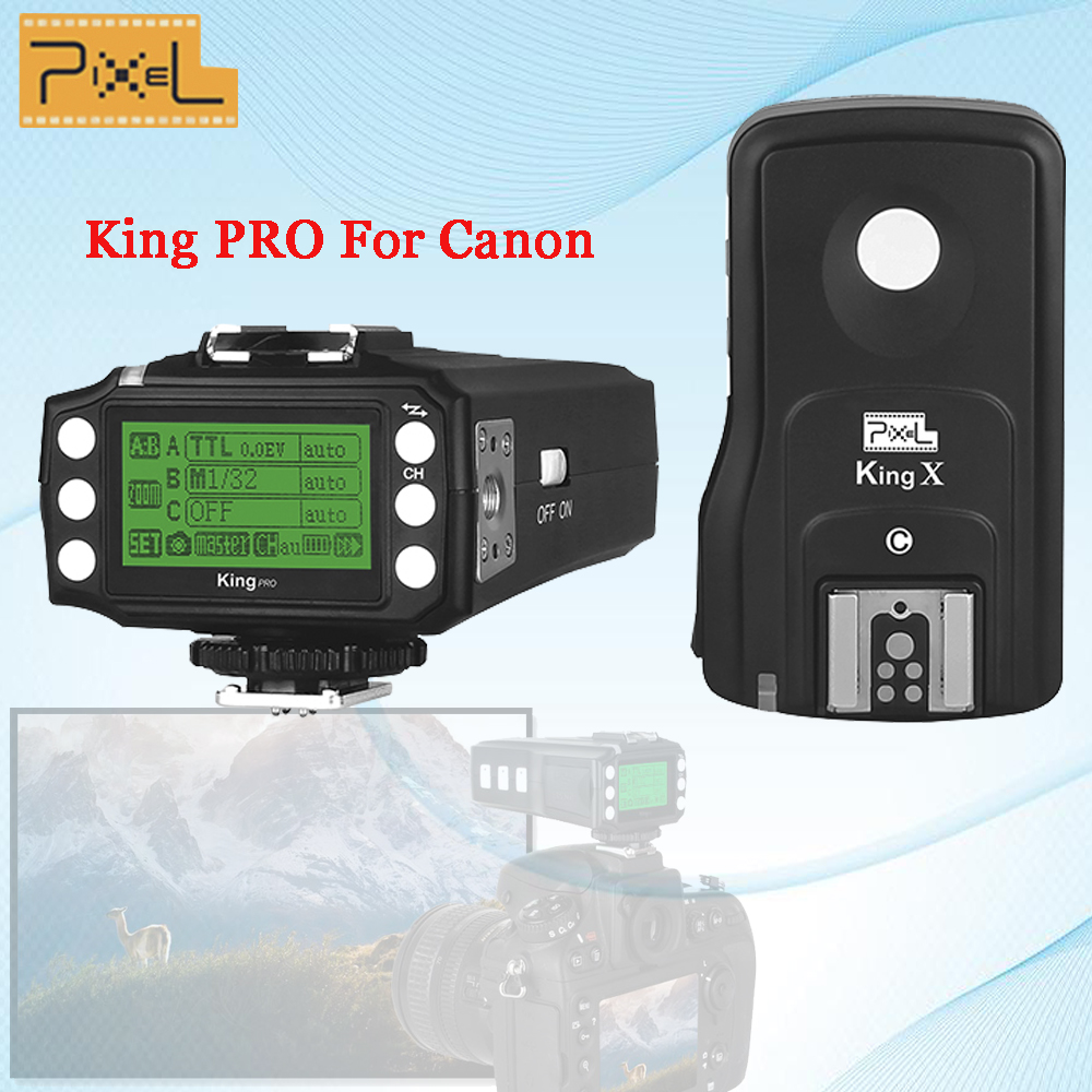 Pixel King Pro Wireless 2.4GHZ TTL HSS 1/8000S Shutter Flash Remote Control Flash Trigger For Canon 5D MarkIII Eos 6D 7D 50D 40D i ttl wireless flash trigger for nikon sb910 sb900 sb700 remote control shutter release cord cable for d5000 d5100 d90 camera