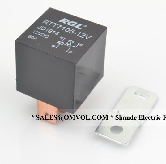 Aliexpress Com   Buy Rgl 5 Brass Pin 80a Big Flat Auto Pin Relay With Silver Alloy Contact From