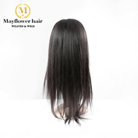 Mayflower hair 100% Virgin straight hair full lace wig 150% density Natural color Medium size with adjust straps 8 28