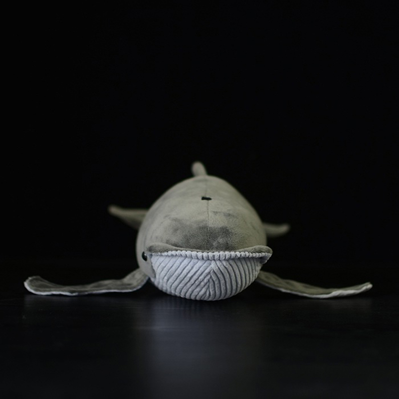 40CM Length Lifelike <font><b>Blue</b></font> <font><b>Whale</b></font> Stuffed Toy Extra Soft Humpback <font><b>Whale</b></font> <font><b>Plush</b></font> Toys Simulation Ocean Animal Toy Gifts image