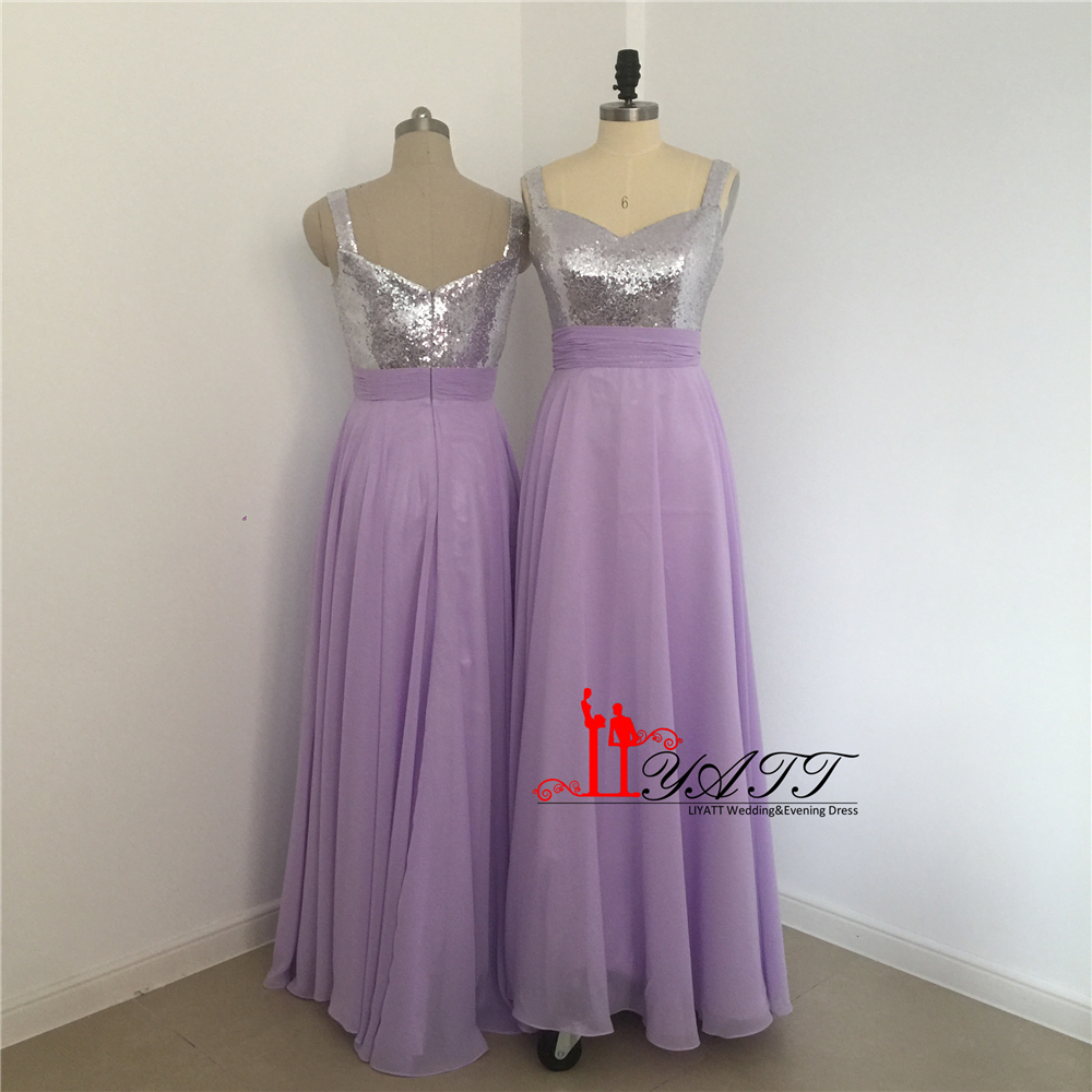 Liyatt sparkly a line lavender bridesmaid dresses 2017 sleeveless liyatt sparkly a line lavender bridesmaid dresses 2017 sleeveless long chiffon wedding party gowns custom made plus size mn057 in bridesmaid dresses from ombrellifo Image collections