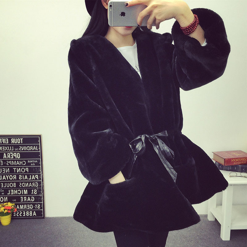 Womens Coats And Jackets Winter Cotton Wadded Jacket Solid Women's Clothing Loose Plush Fur Parkas Abrigos Mujer Jacket C1608