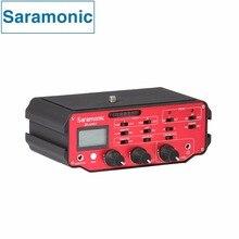 Saramonic SR-AX107 XLR de Áudio do Microfone Adaptador Misturador Amplificadores Alimentação Fantasma para DSLR Canon Nikon Sony Filmadoras