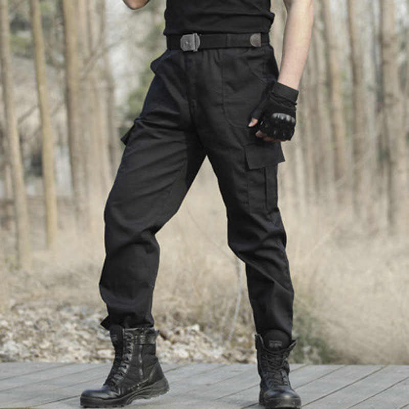 April MOMO 2019 Men Military Tactical Cargo Pants Men Army Tactical Sweatpants High Quality Black Working Men Pant Clothing Pant