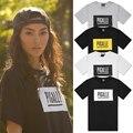 Camiseta de Los Hombres de Moda de La calle de París Moda PIGALLE Patineta Hiphop Camisetas 2016 de Alta de la calle de Algodón de Tes Superior Bboy Tamaño Chino