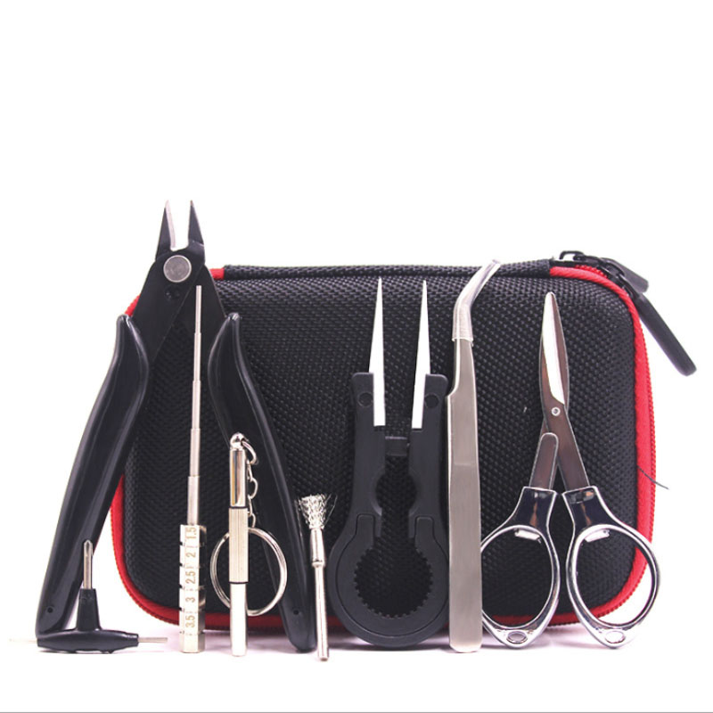 XFKM Spule DIY Kit Tasche Vape Tools Master DIY Kit mit Ohm Tester Meter Zangen Für RDA RTA Zerstäuber Wiederaufbau tank E Cigarettte