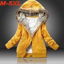 Большие размеры 5XL,, зимнее пальто, толстовка с капюшоном, меховая верхняя одежда с капюшоном, женская одежда, кардиганы, плотное пальто, куртка C5410