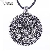 My shape Viking Necklaces Flower of Life Dome Sacred Geometry Women Om Yoga Chakra Pendant Mandala Fashion Choker Jewelry