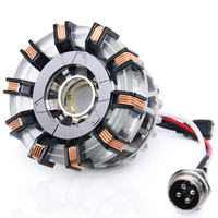 Avengers 1:1 scale Iron Man Arc Reactor Core Heart Model MARK 2 with LED Light Figure Boyfriend Gift Parts Need to Assemble DIY