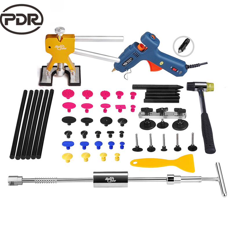 PDR Tools Kit Dent Removal Paintless Dent Repair Tool Car Dent Repair Hail Damage Repair Dent Puller Suction Cup Hand Tools Set
