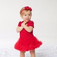 YK i Kochać 0-2years Czerwona Róża Kwiat Tutu Sukienka Z Krótkim Rękawem Dla Dzieci Dziewczyny Odzież 2 Sztuk Noworodka Bawełna Miękkie Wygodne wysokiej Jakości