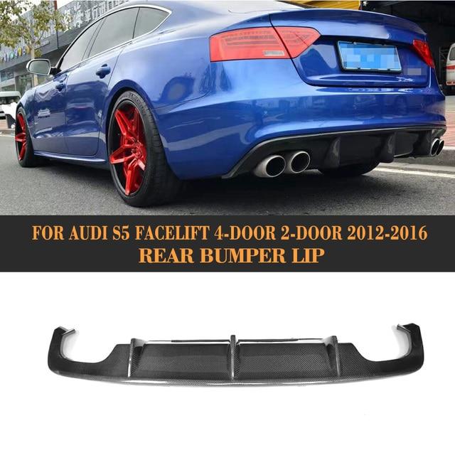 Carbon Fiber Rear Bumper Diffuser Lip For Audi A5 S Line